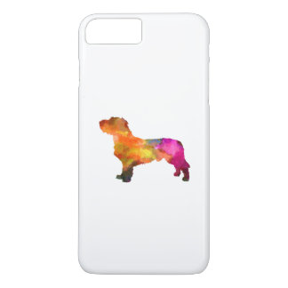 Fawn Brittany Basset in watercolor iPhone 8 Plus/7 Plus Case