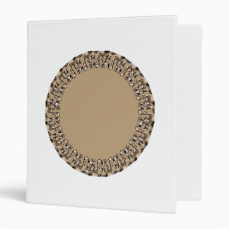 Fawn brown circles binder