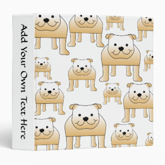 Fawn Bulldogs. 3 Ring Binder