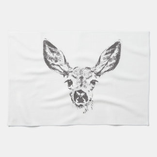 Fawn deer kitchen towels