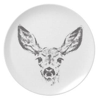Fawn deer plate