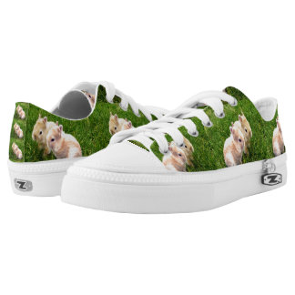 Fawn Dwarf Bunny Rabbits, Low-Top Sneakers