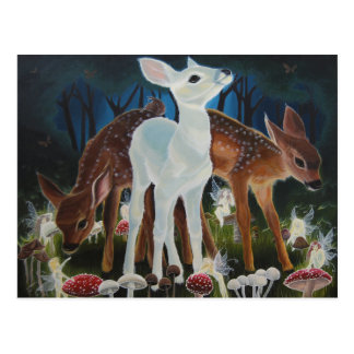Fawn Faery Ring Postcard