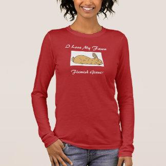 Fawn Flemish Giant Rabbit Long Sleeve T-Shirt