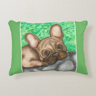 Fawn French Bulldog accent pillow