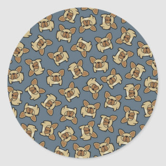 Fawn Frenchie Classic Round Sticker