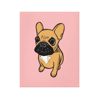 Fawn Frenchie Puppy Canvas Print