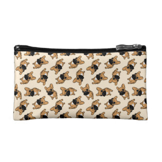 Fawn Frenchie Puppy Cosmetic Bags