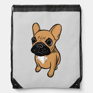 Fawn Frenchie Puppy Drawstring Bag