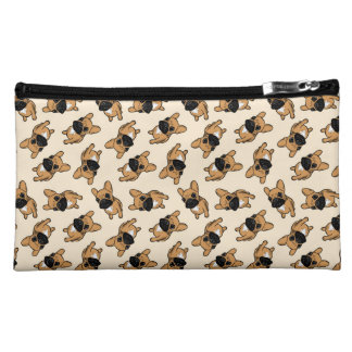 Fawn Frenchie Puppy Makeup Bags
