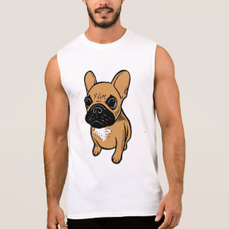 Fawn Frenchie Puppy Sleeveless Shirt