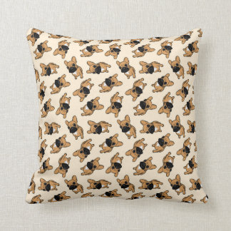 Fawn Frenchie Puppy Throw Pillow