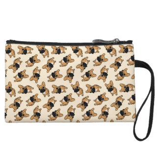 Fawn Frenchie Puppy Wristlet Purses