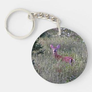 Fawn in Grass Keychain