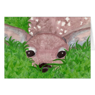 Fawn in the grass card
