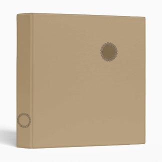 Fawn light brown binders
