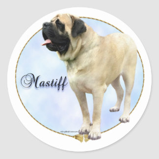 Fawn Mastiff Portrait Sticker