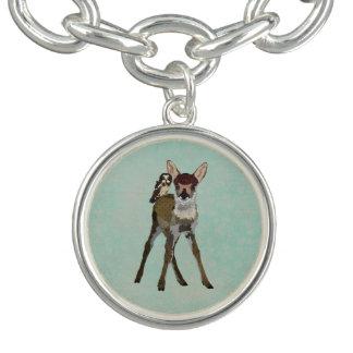 Fawn & Owl Charm Bracelet