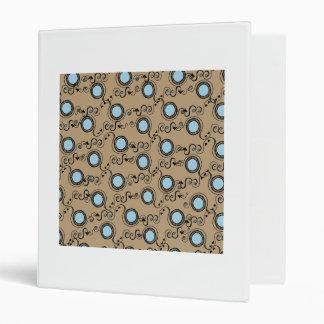 Fawn polka dot pattern 3 ring binders