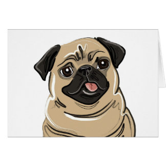 Fawn Pug Note Card