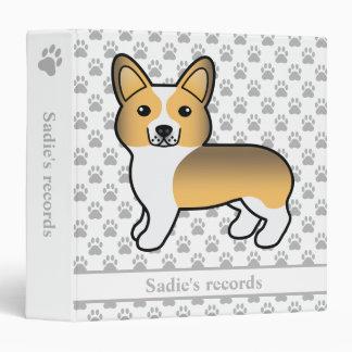 Fawn Sable Pembroke Welsh Corgi Dog's Records 3 Ring Binders