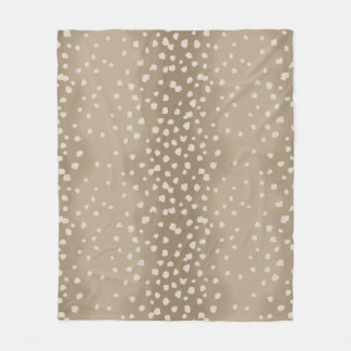Fawn Spots Soft Brown Animal Pattern Fleece Blanket