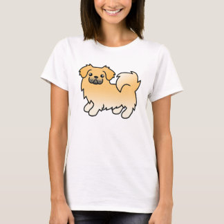 Fawn Tibetan Spaniel Cartoon Dog T-Shirt