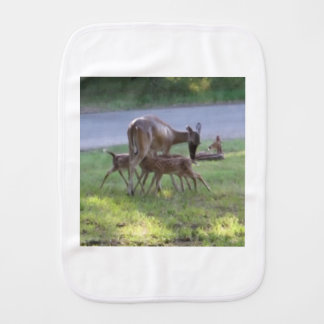 Fawn Triplets Nursing Burp Cloth
