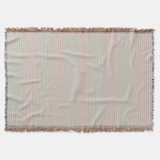 Fawn, Vertical Fine Red Lined Throw Blanket