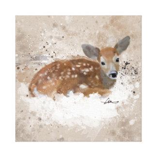 Fawn Watercolour Canvas Print