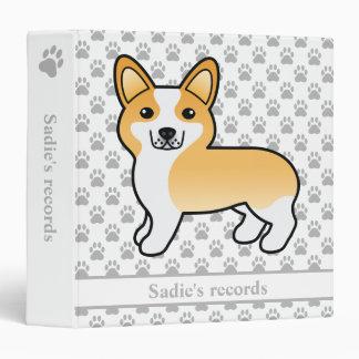 Fawn & White Pembroke Welsh Corgi Pet Records Binder