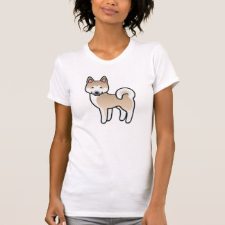 Fawn With White Mask Akita Cartoon Dog T-Shirt