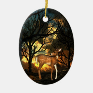 Fawn, Young Deer of the Forest Ceramic Ornament