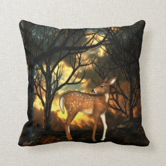 Fawn, Young Deer of the Forest Throw Pillow