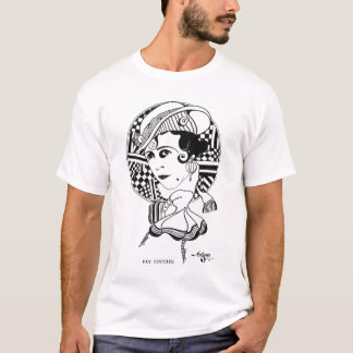 Fay Tincher Silent Movie Actress Caricature T-Shirt