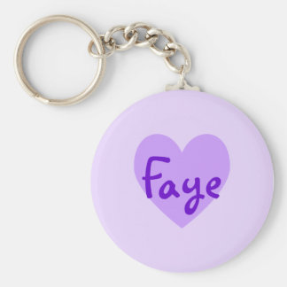 Faye in Purple Keychain