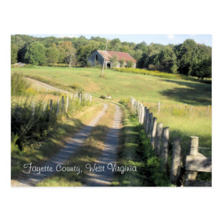 Fayette County, West Virginia Postcard