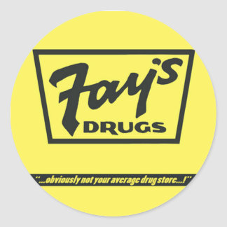 Fay's Drugs | the Immortal Yellow Bag Classic Round Sticker