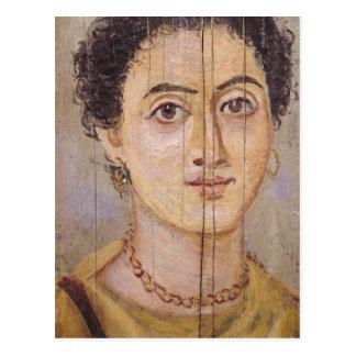Fayum portrait of a woman postcard