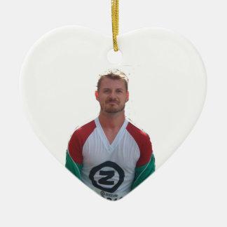 fb ceramic heart ornament