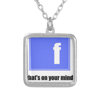 fb silver plated necklace