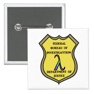 FBI Badge 2 Inch Square Button