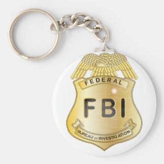 FBI Badge Basic Round Button Keychain