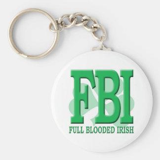 FBI BASIC ROUND BUTTON KEYCHAIN