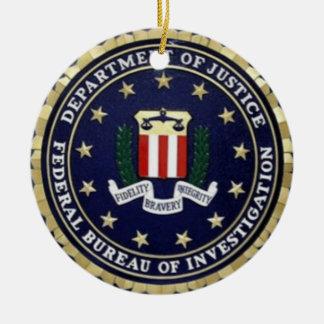 FBI Emblem Ceramic Ornament
