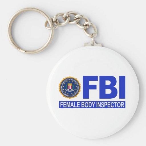 FBI Female Body Inspector Keychain