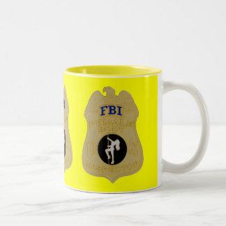 fbi female body inspector Two-Tone coffee mug