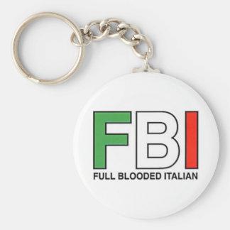 FBI = Full Blooded Italian Basic Round Button Keychain