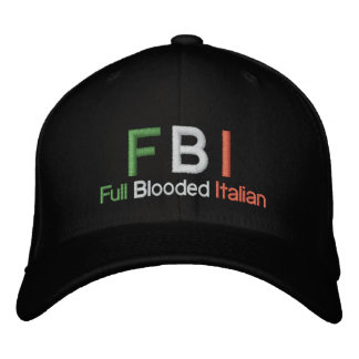 FBI Full Blooded Italian Black Baseball Cap