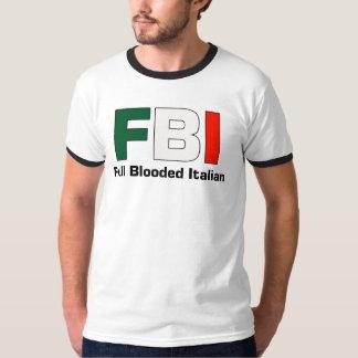 FBI Full Blooded Italian Black Ringer T- Shirt